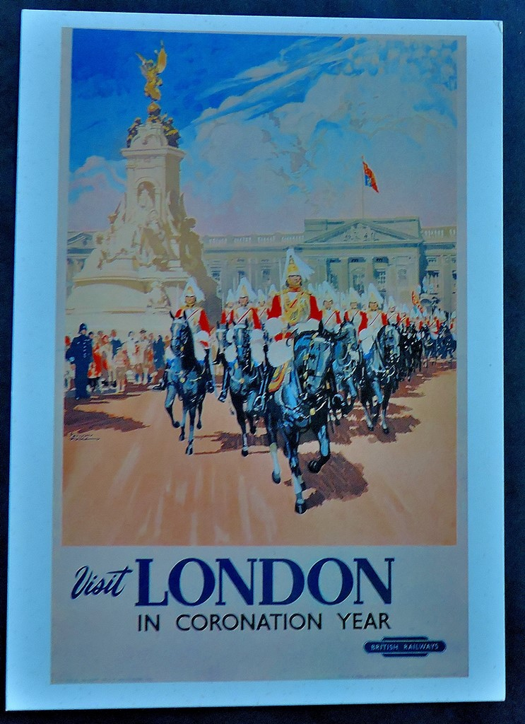 Although these posters were originally produced to advertise mainline railways, both feature Trafalgar Square.
