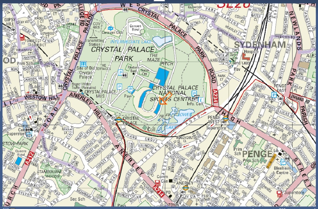 The full location map, URL http://www.streetmap.co.uk/newmap.srf?x=534454&y=170658&z=0&sv=SE19%2B2BB