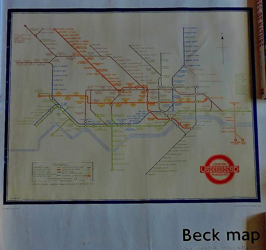 Possibly the single most influential map produced in the 20th century - the original Beck masterpiece.