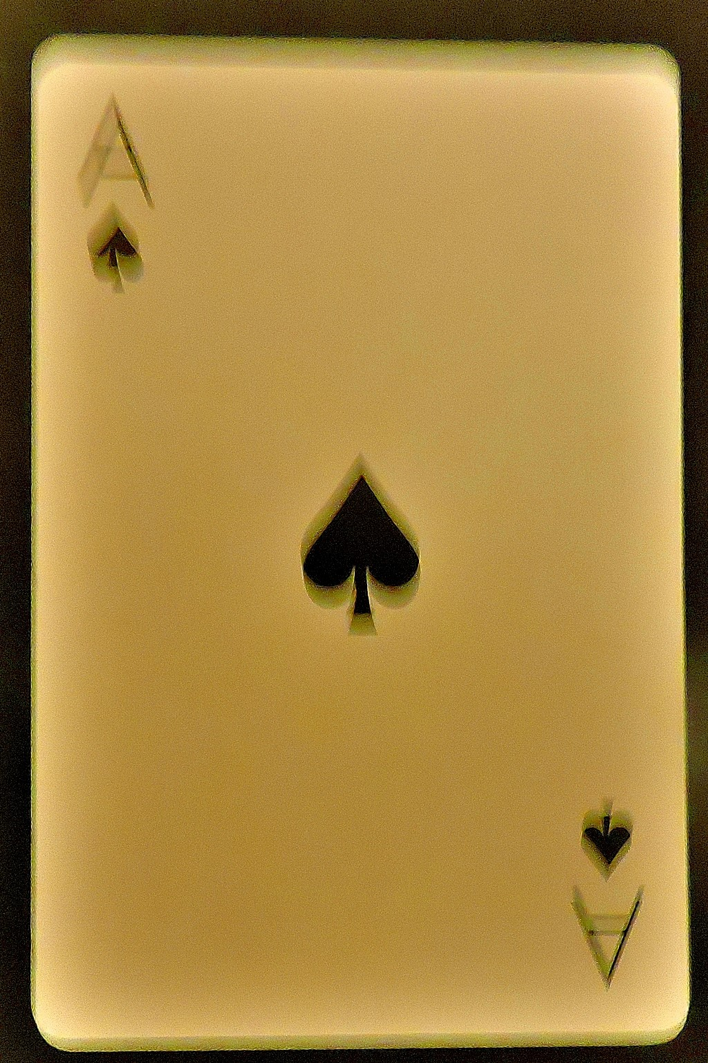An unadorned ace of spades.