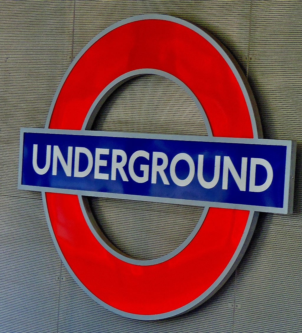 A roundel near the surface at King's Cross